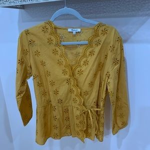 Mustard Madewell Blouse Size Small